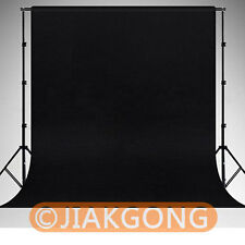 Photography Chromakey Black Backdrop 1.8m x 2.8m 100% Cotton Muslin background