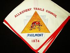 BOY SCOUT  ALLEGHENY TRAILS COUNCIL 1974  EMBROIDERED  PHILMONT EXPD  N/C  PA.
