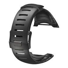 New! Genuine Suunto Core All Black Elastomer Standard Strap 1 Inch #SS014993000