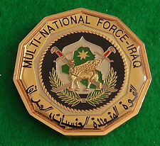 Challenge Coin / Medal Multi National Force Iraq Presented for Excellence United