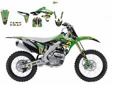 BLACKBIRD KAWASAKI KXF 250 2014 KIT GRAFICHE ADESIVI ARMA ENERGY GRAPHIC VERDI