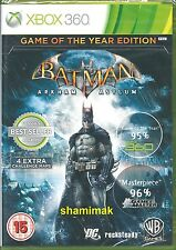 Batman Arkham Asylum Game Of The Year  Brand New Xbox 360 Game