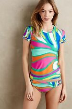 NWT Trina Turk Tropicalia Sz Medium M Rashguard & Sz 8 Bottom