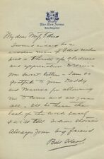 WILLIAM S HART Autographed Signed Letter Bill Hart