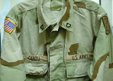 US ARMY DESERT CAMO BDU DCU SHIRT PATCHES 17TH FIELD ARTILLERY MEDIUM LONG