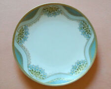 Antique R&S RS Germany Reinhold Schlegelmilch Tillowitz Plate Blue Flowers Gold