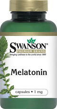 SWANSON MELATONIN STRESS RELIEF & SLEEP AID 1 mg 120Capsules FREEShip Worldwide