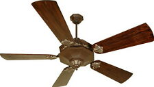 "Aged Bronze 54"" Ceiling Fan With Walnut Plus Series Blades And Remote"