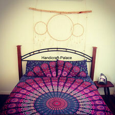 Queen Mandala Bedspread Indian Bohemian Tapestry Bed Cover With Pillow Cover