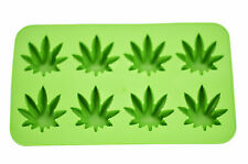 Cannabis Marijuana Pot Leaf Shape Stoner Ice Cube Tray Mold Novelty Gag Gift