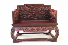 MINI House Miniature Oriental Furniture Rosewood Antique twain dragon throne