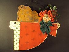 Primitive Wooden Raggedy Ann Doll flying Angel Wall Hanging Decor Art Toll Paint