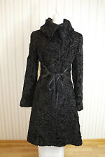 Maximilian Black Lamb Fur Coat US 4