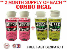 FAT BURNERS COMBO DIET PILLS SLIMMING RASPBERRY KETONES & GARCINIA CAMBOGIA n.89