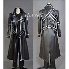 Sword Art Online Anime Cosplay Costume Kirito Kazuto Kirigay Cloak PU Leather