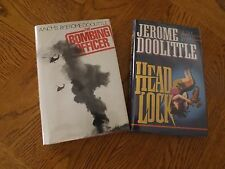 Jerome Doolittle-THE BOMBING OFFICER(inscribed) & HEAD LOCK(signed/dated)1st/1st