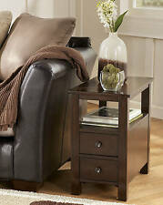 """Ashley Furniture T477-7 Chair Side End Table Marion Dark Brown 14""""W x 24""""D x 24"""""""