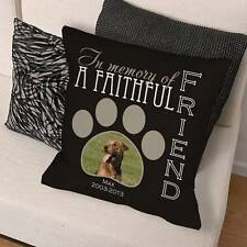 Personalized Dog Memorial Throw Pillow Faithful Friend Dog Photo Couch Pillow