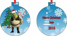 Personalized SHREK Ornament ( Add Any Message You Want)