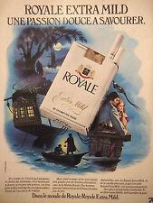 PUBLICITÉ DE PRESSE 1976 CIGARETTE ROYALE EXTRA MILD DOUCE - ADVERTISING
