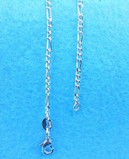 1PCS Wholesale 26 inch Jewelry 925 Silver Plated Figaro Chain Necklace Pendants