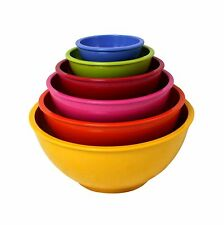 Zak Designs Assorted Yellow Bright, Set of 6 Bowls