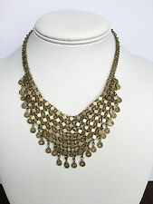 VINTAGE ANTIQUE ORNATE AUTHENTIC MIDDLE EASTERN ARAB NECKLACE FILIGREE EXC CN