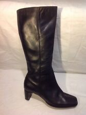 Easy Spirit Black Mid Calf Leather Boots Size 7