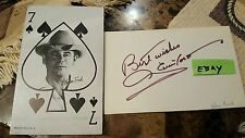 Glen Ford Western Poker Face King of Clubs and 3x5 auto Card 1950's Mktg Mint HS