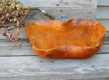 ~ Neat Heart Shaped Hand Made Wooden Bowl, Dish Vintage ~