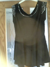 BLACK STUDDED TUNIC TOP SIZE MEDIUM BY NEW LOOK (CAMEO ROSE ) NEW