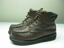 VINTAGE WELLCO STEEL TOE WORK SAFETY Leather ANKLE BOOTS SIZE 8,5 MENS.9,5 WOMEN