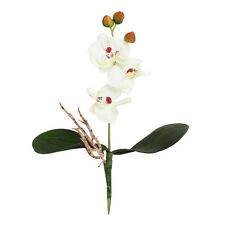 Triple Head Artificial Butterfly Orchid Silk Flower Home Wedding Decor White