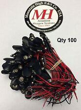 100 Qty 9V 9 Volt Battery Snap Connector Soft Shell