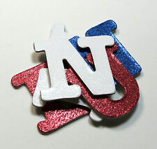 """Glitter 4th of July 1.5"""" Chipboard Alphabet Letters 60 Pieces Independence Day"""