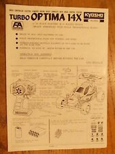 Turbo Optima 14X Manual - Kyosho 1:14 Scale / Not for 1:10 Scale