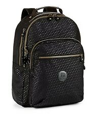 Genuine Kipling Seoul Backpack With Laptop Protection Plover Black