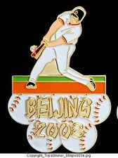 OLYMPIC PIN BEIJING 2008 SPORTS FS BASEBALL GOLD SOFT