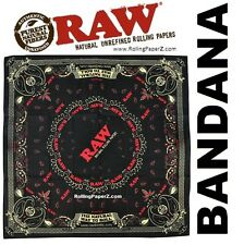 RAW The Natural Way to Roll Rolling Papers BANDANA -Limited Edition Collectible