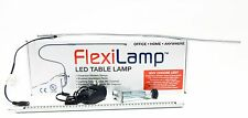 FlexiLamp LED Lamp - Nail Table, Desk, Office, removable Table Clamp 1/pk Silver