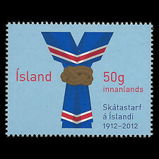 Iceland 2012 - 100th Anniv of Scouting Boy Scouts  - Sc 1270 MNH