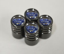 Black Chrome Car Wheel Tyre Tire Air Valve Caps Stem Cover With Ford Emblem