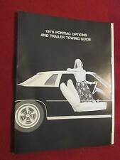 1976 Pontiac Accessories Catalog, CB Radios,AM-FM Tape,Interiors MORE! 19-Pages