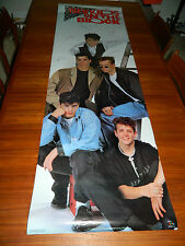 "1989 ORIGINAL NEW KIDS ON THE BLOCK - 71"" x 22.5"" FULL COLOR DOOR OR WALL POSTER"
