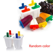 DIY 4 Cell Frozen Ice Cream Popsicle Maker Lolly Mould Tray Pan Kitchen