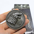 Silver HBO Game of Thrones House Stark Head Pendant Metal Keyring Keychain