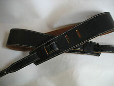 LEATHER BLACK CROC BANJO STRAP