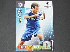 JUAN MATA CHELSEA BLUES UEFA PANINI CARD FOOTBALL CHAMPIONS LEAGUE 2011 2012