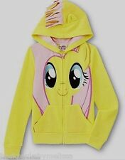 My Little PONY Fluttershy Jacket Girl's 4/5 NeW Pink Mane on the Hood Hoodie NWT