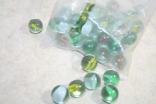 3a- TOY MARBLES LOT MANY COLORS ALL LOOK NICE GENTLY USED30 CAT EYES